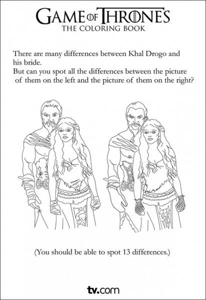 Game of Thrones: раскраска-ребус