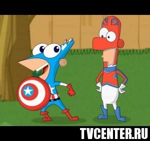 """Супергерои и злодеи Marvel появятся в мультсериале """"Финес и Ферб"""""""