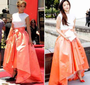 Платье от Christian Dior: Дженнифер Лопес vs Чон Джи Хён (опрос)