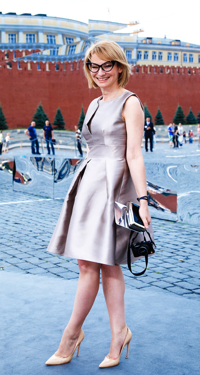 Эвелина Хромченко выбрала для показа платье истинно «диоровского» силуэта
