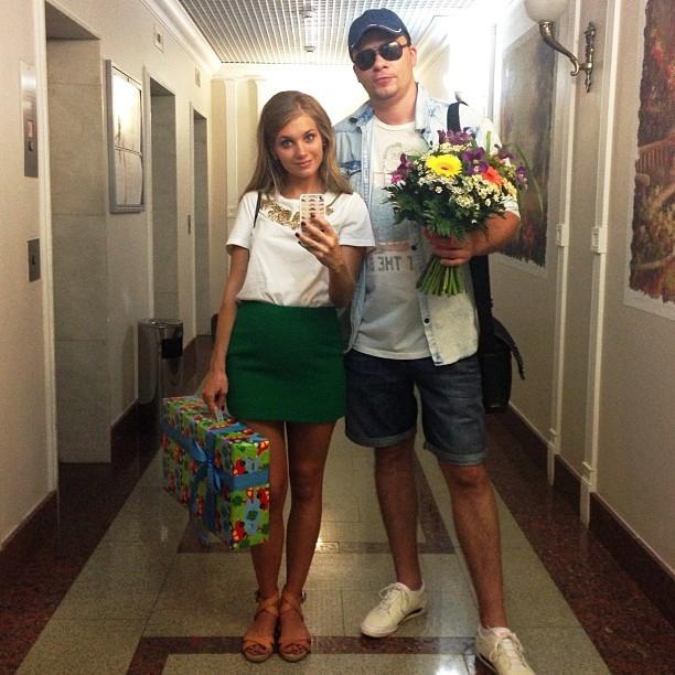 Гарик Харламов со своей новой женой Кристиной Асмус