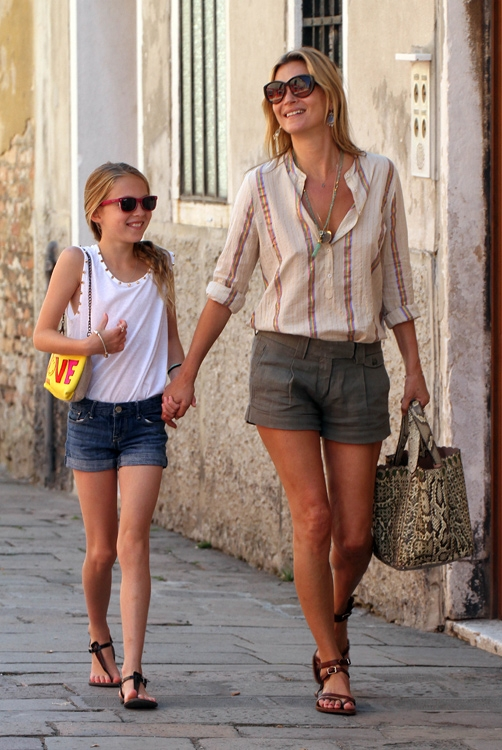 Кейт Мосс с дочкой Лилой