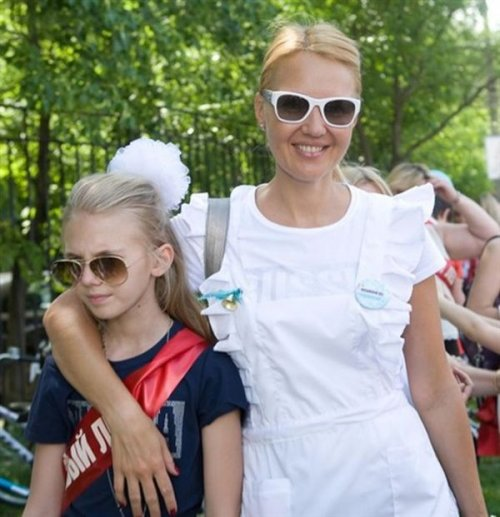 Юлия Бордовских с дочерью.