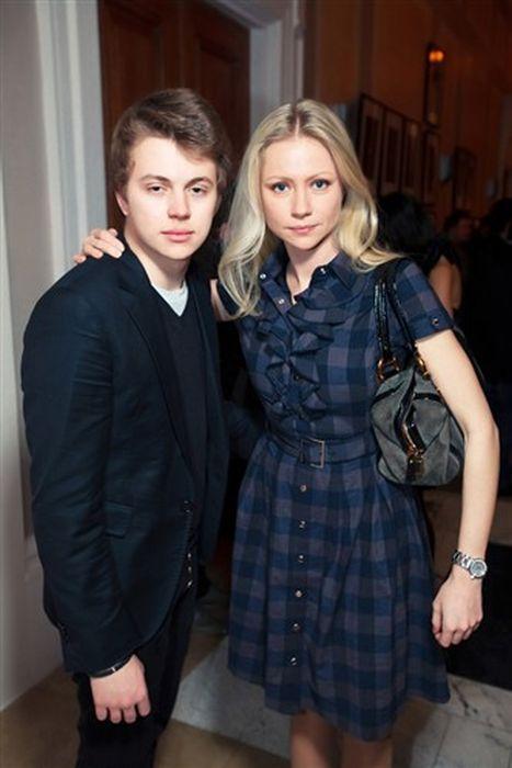 Мария Миронова с сыном.