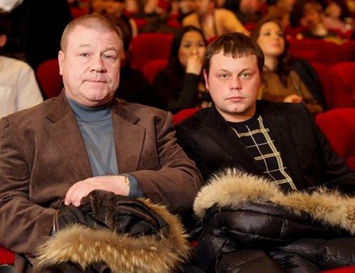 Сергей Селин с сыном.