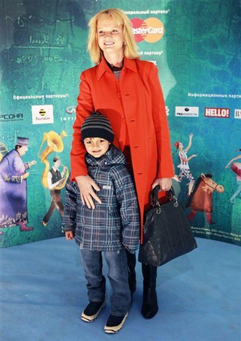Светлана Хоркина с сыном.
