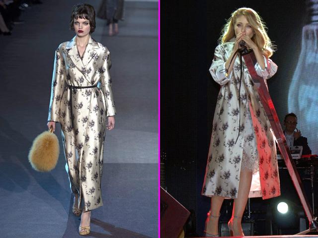 Тина Кароль выступает в наряде Louis Vuitton осень-зима 2014