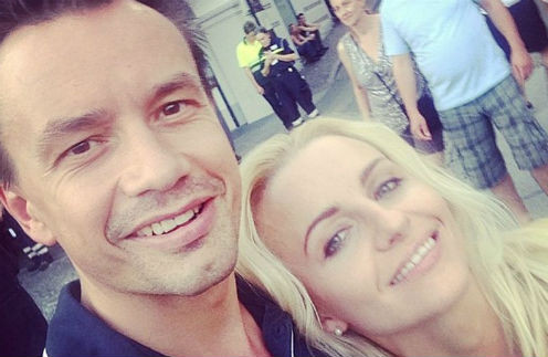 Алексей Серов с бывшей женой Ириной