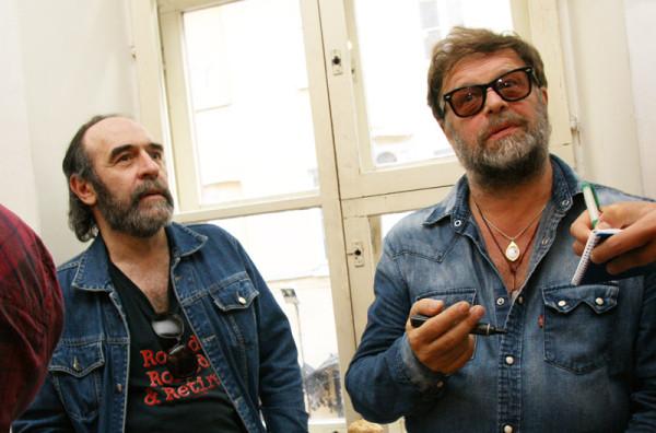 Джордж Гуницкий (слева) и Борис Гребенщиков (справа)
