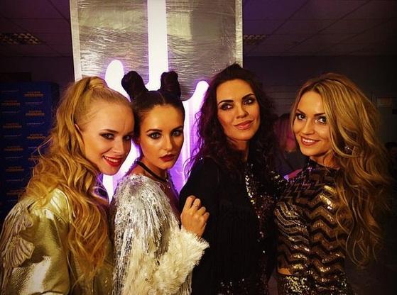Сильвия Золотова (крайняя справа) вошла в состав группы в 2015 году
