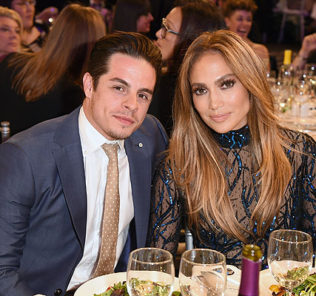 LOS ANGELES, CA - APRIL 12:  Recording artist Jennifer Lopez (R) and Choreographer Casper Smart attend the 25th Annual GLAAD Media Awards at The Beverly Hilton Hotel on April 12, 2014 in Los Angeles, California.  (Photo by Jason Merritt/Getty Images for GLAAD)