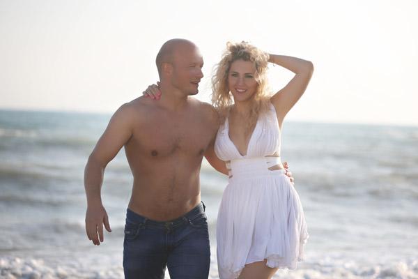 Никита Панфилов с женой. Фото: starhit.ru