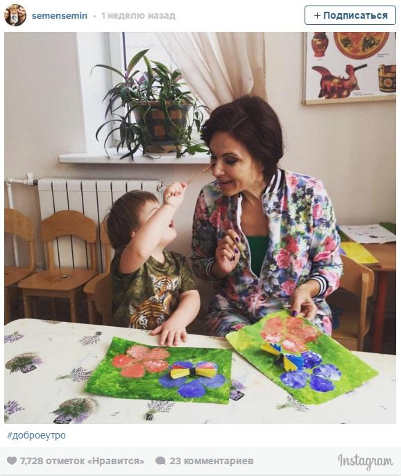 Эвелина Блёданс с сыном. Фото: instagram.com
