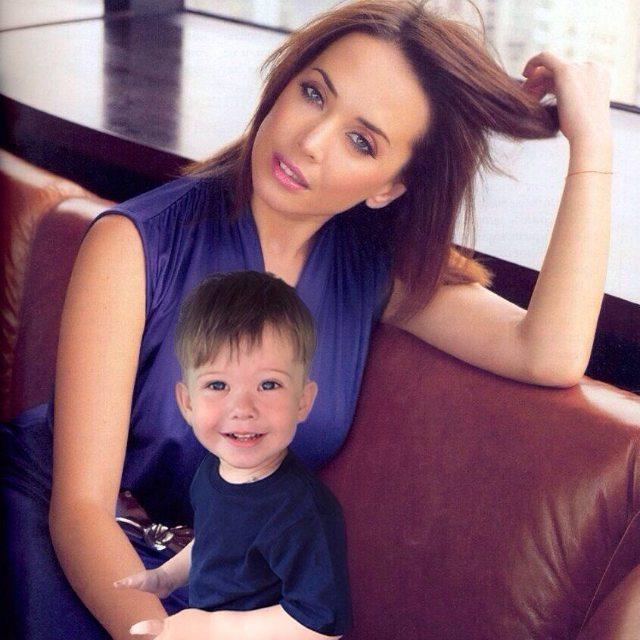 Жанна Фриске с сыном Платоном. Фото: fedpress.ru