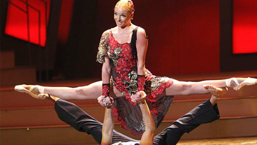 Анастасия Волочкова на сцене Большого театра. Фото: 5cdn.lt