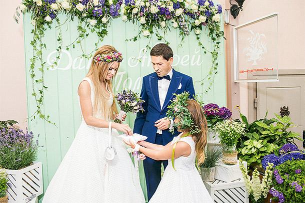 Дана Борисова и Андрей Трощенко в день свадьбы Фото: HELLO!
