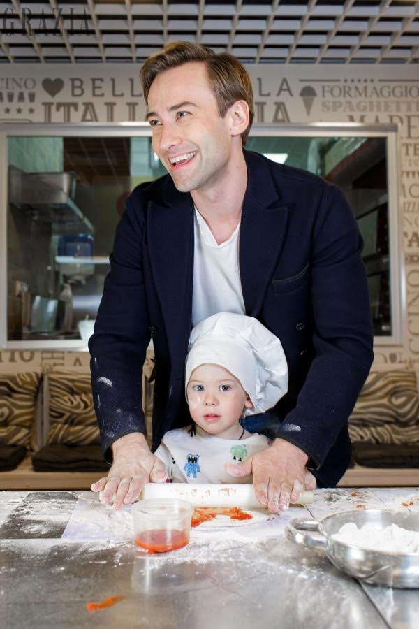 Дмитрий Шепелев с сыном Платоном Фото: Grazia