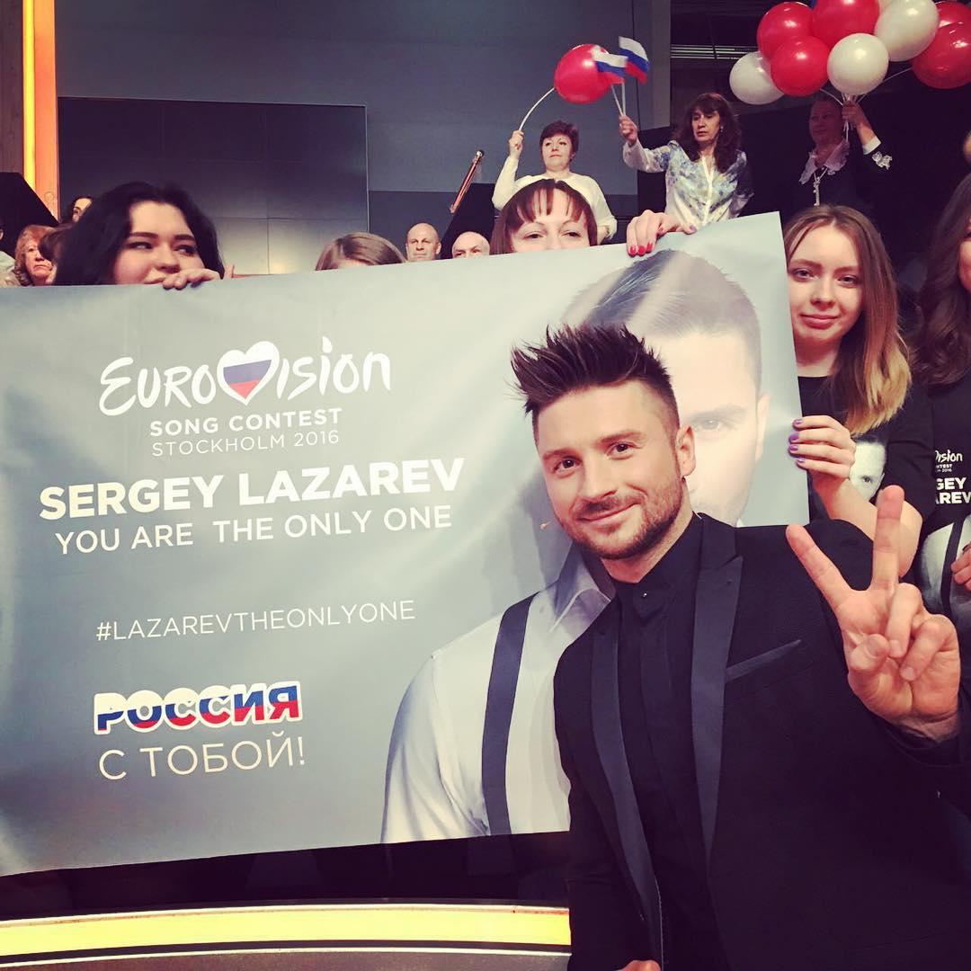 Сергей Лазарев сорвался с декораций на сцене «Евровидения-2016»