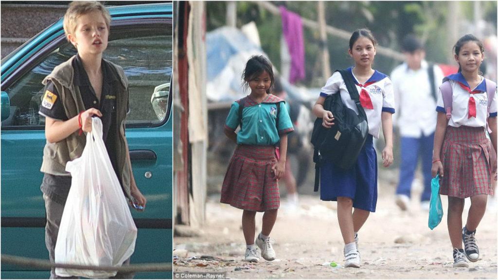 Дети Анджелины Джоли и Брэда Питта покупают одежду и еду для друзей Фото: Daily Mail Celebrity