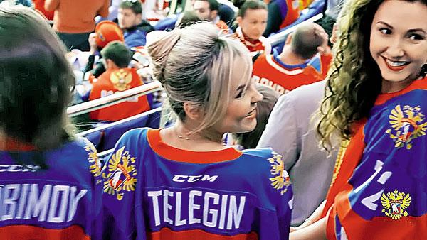 Пелагея познакомилась с женами хоккеистов Фото: youtube.com/russiahockey
