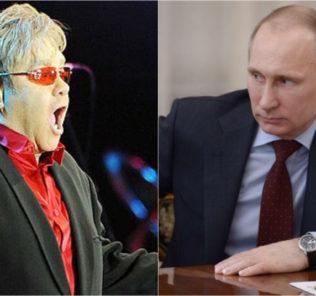Владимир Путин отказался обсуждать с Элтоном Джоном проблемы секс-меньшинств