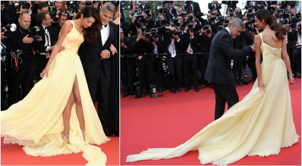 Жена Джорджа Клуни выбрала неудачный наряд Фото: REX