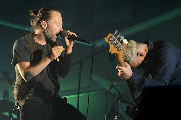 Том Йорк, вокалист и гитарист группы Radiohead, на музыкальном фестивале в Техасе Фото: GETTY IMAGES