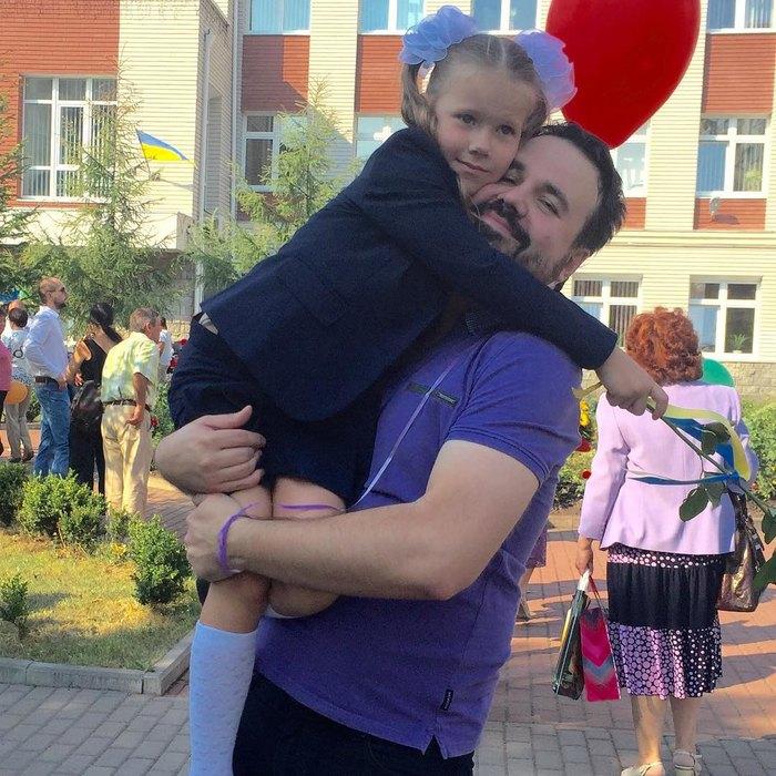 Антон Лирник со второй дочерью Софией Фото: Инстаграм