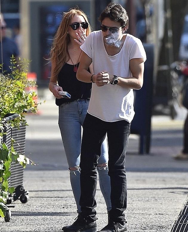 Линдси Лохан и Егор Тарабасов на шоппинге в Нью-Йорке Фото: Daily mail
