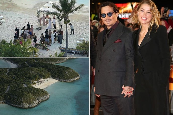 Свадьба Эмбер Херд и Джонни Деппа состоялась на личном острове в Багамском архипелаге Фото: TMZ