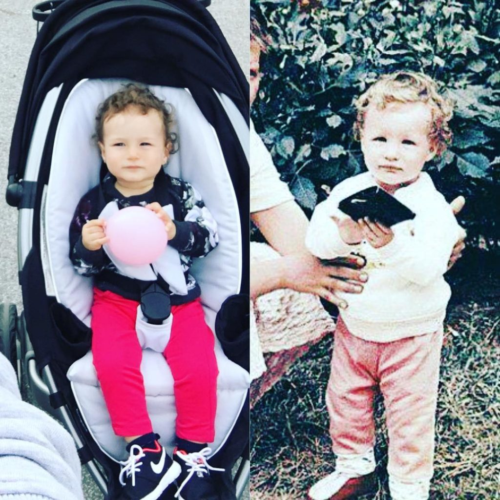 Кети Топурия сравнила свой старый снимок с фотографией дочери Фото: Инстаграм