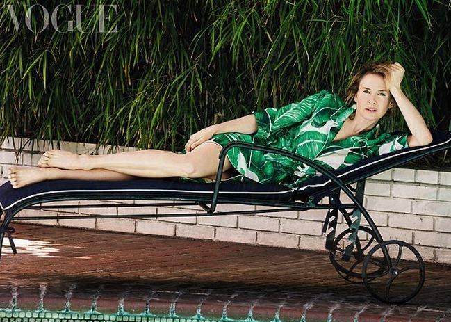 Рене Зеллвегер довольна своим новым лицом Фото: Vogue UK