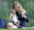 EXCLUSIVE: Natalia Vodianova brings two month old baby, son Maxim Arnault to Central Park in New York City. Natalia is a top model for Calvin Klein, who in 2012, reportedly came in third on the Forbes top-earning models list, estimated to have earned $8.6 million in one year. This is her second marriage to Antoine Arnault, son of LVMH founder Bernard Arnault and the CEO of luxury brand Berluti.  Pictured: Natalia Vodianova and Maxim Arnault Ref: SPL807153  220714   EXCLUSIVE Picture by: Splash News  Splash News and Pictures Los Angeles:310-821-2666 New York:212-619-2666 London:870-934-2666 photodesk@splashnews.com