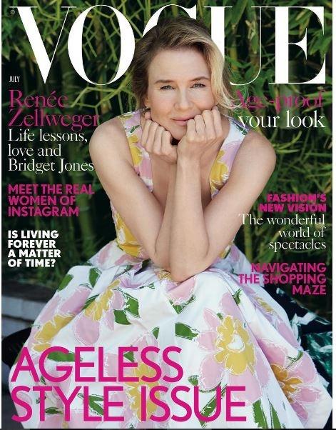 Рене Зеллвегер снялсь для обложки модного глянца Фото: Vogue UK