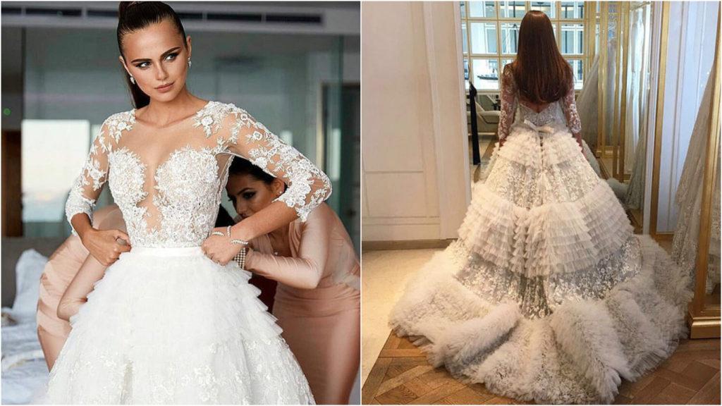 Ксения Дели выбрала свадебное платье от Zuhair Murad Фото: tatler.ru