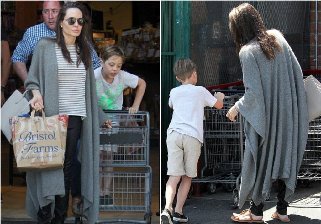 Анджелна Джоли и ее сын Нокс вместе совершают покупки Фото: The Daily Mail