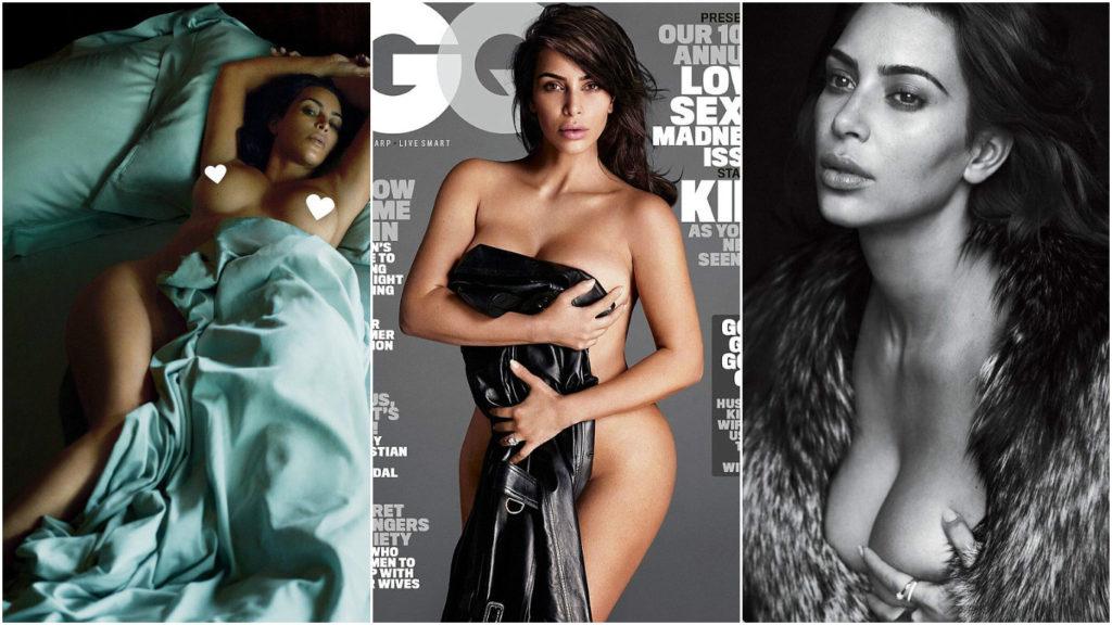 Ким Кардашьян в откровенной фотосессии для журнала GQ Фото: Инстаграм