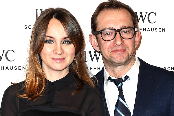 """GENEVA, SWITZERLAND - JANUARY 19:  Olga Litvinova and Konstantin Khabensky attend the IWC """"Come Fly With Us"""" Gala Dinner during the launch of the Pilot's Watches Novelties from the Swiss luxury watch manufacturer IWC Schaffhausen at the Salon International de la Haute Horlogerie (SIHH) 2016 on January 19, 2016 in Geneva, Switzerland.  (Photo by Chris Jackson/Getty Images for IWC)"""