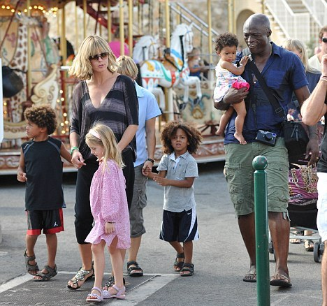 Хайди Клум с детьми и экс-супругом Силом Фото: Getty Images