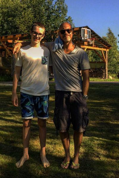 Федор Бондарчук с младшм братом Паулины Андреевой Фото: ВКонтакте