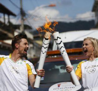 Дима Билан и Полина Гагарина на Олимпиаде в Бразилии. Фото с сайта amdn.news