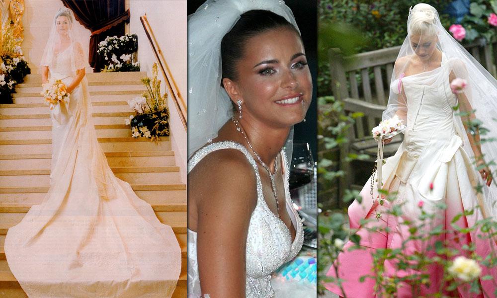 Оригинальные свадебные платья ТОП 10 звездных невест