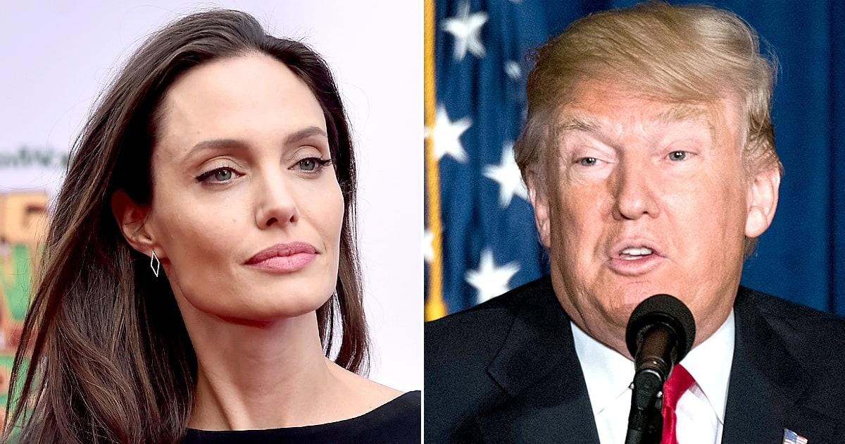 Анджелина Джоли против  Дональда Трампа