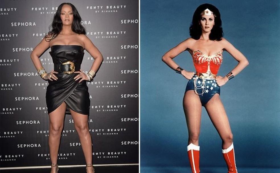 Рианну в кожаном супер-мини сравнили с Чудо-женщиной