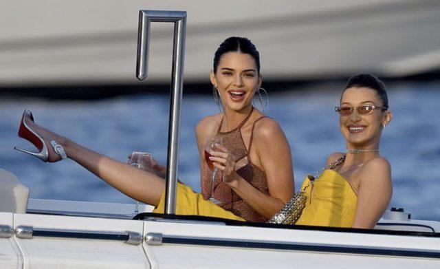 Кендалл  Дженнер и Белла Хадид в Монако