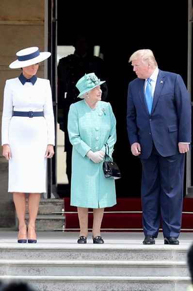 Трампы прилетели к королеве. Самой красивой на встрече была Камилла Боулз-Паркер!