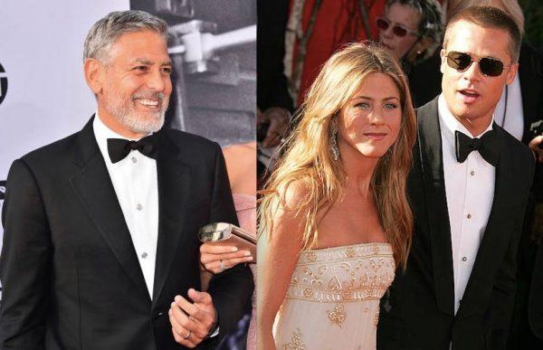 Джордж Клуни хочет снова поженить Брэда Питта и Дженнифер Энистон
