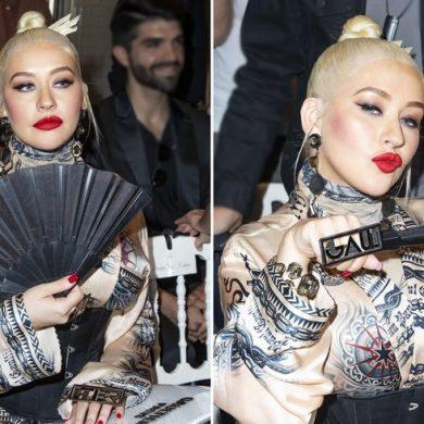 Мило - оделась в наряд гейши и показала язык журналистам