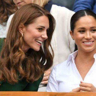 Радостные Кейт и Меган на финале Уимблдона