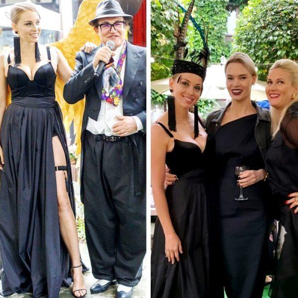 Полина Диброва отметила день рожденья в чулках с подвязками и крыльях